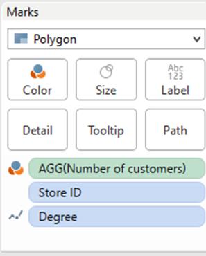 Customers within N miles radius analysis using Tableau