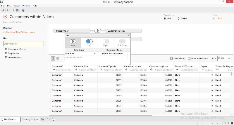 customers within n miles radius analysis using tableau rh crowdanalytix com