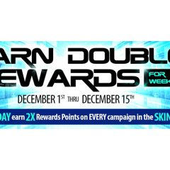 Get Double Rewards Starting Cyber Monday!