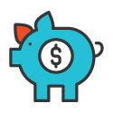 Piggy Bank Icon 125px by 125px