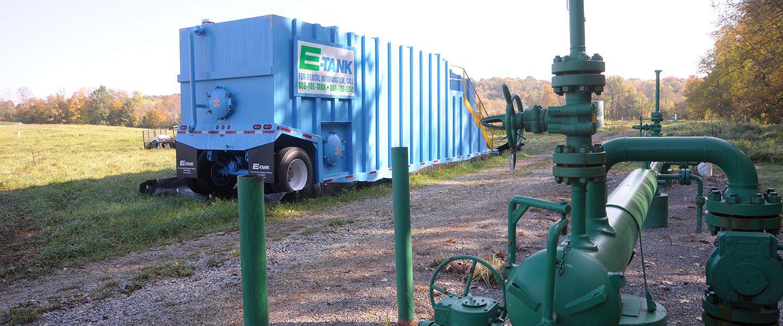 Mobile Frac Tanks for Pipeline Maintenance | E-Tank