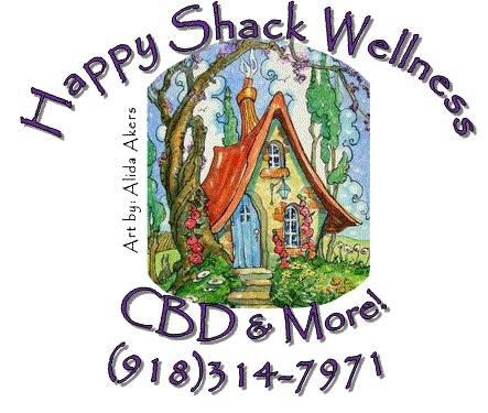 Logo for CBD store: Happy SHack Wellness LLC