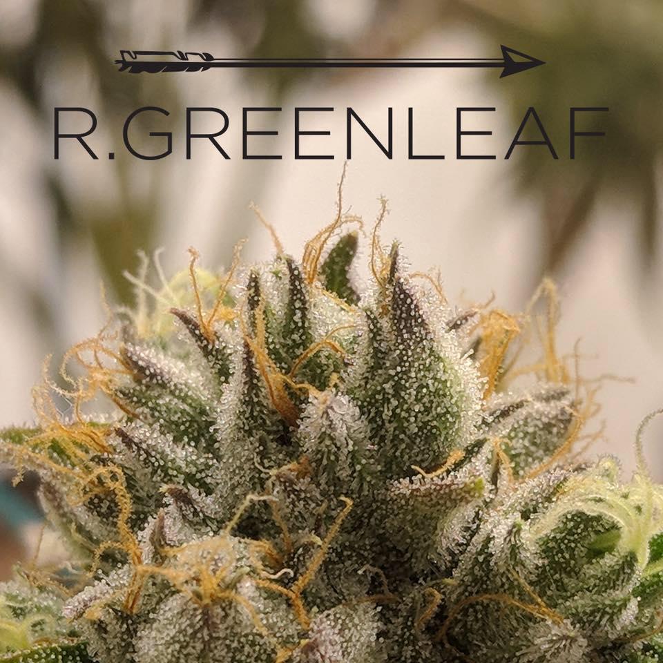 Logo for CBD store: R. Greenleaf