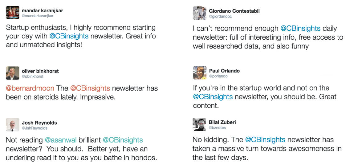 Newsletter on startups, VC and emerging industries - CB Insights
