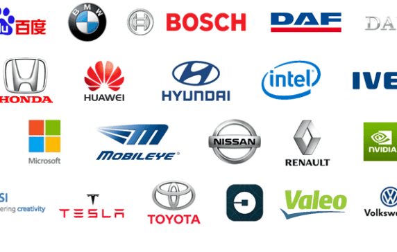 44 corporations working on autonomous vehicles