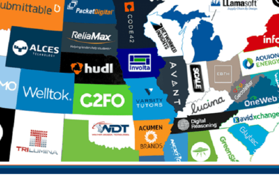 The United States Of Startups The Most Well Funded Tech Startup In Every Us State