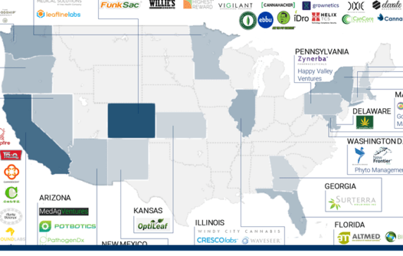 Cannabis Industry Market Map 60 Companies Across Cpg Payments - Us-marijuana-map-2017