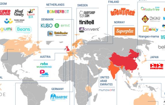 kid planet 55 global startups focused on babies children