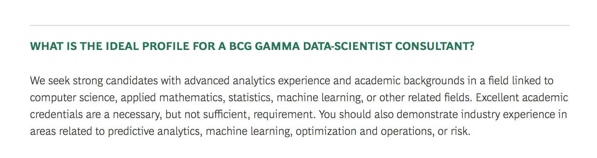 From The FAQ For BCGs Gamma Program