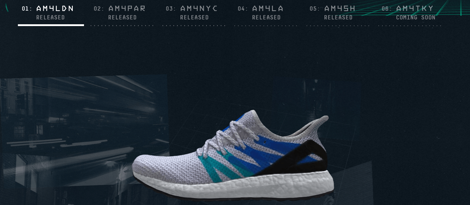 4af7df7909c5f Each AM4 shoe is equipped with a near field communication chip that allows  runners to sync their shoes with the Adidas mobile app to receive original  ...