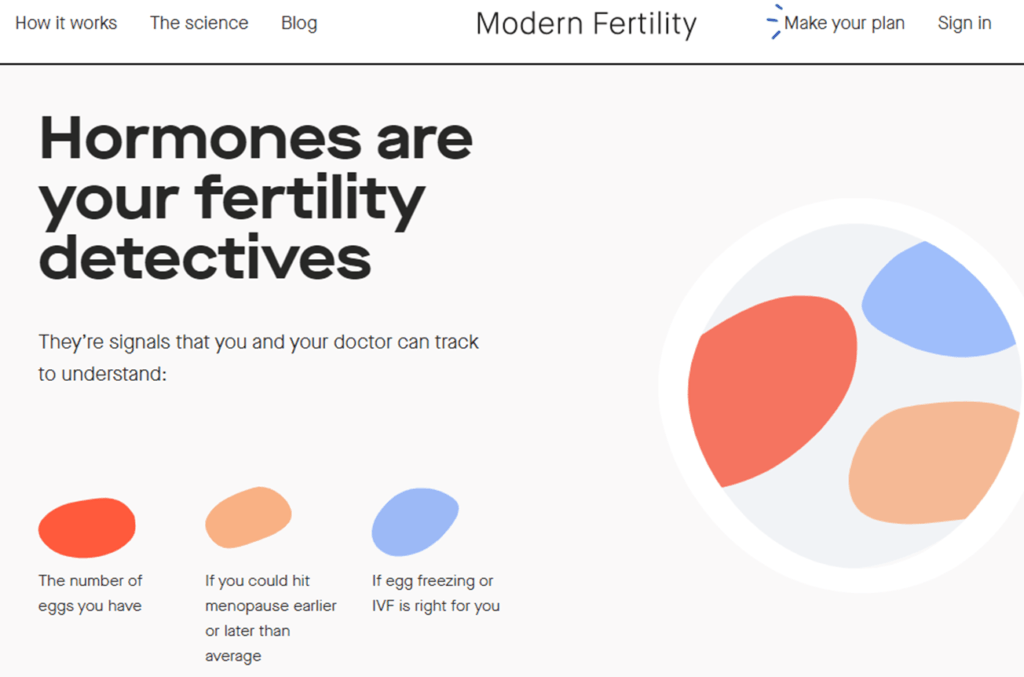 modern fertility website