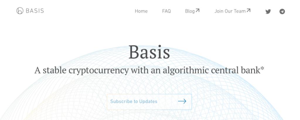 basis stablecoin website