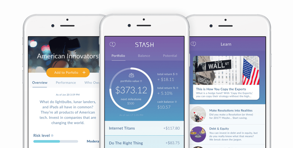 Investment banking disruptor Stash offers its users the ability to invest in various themed ETFs.