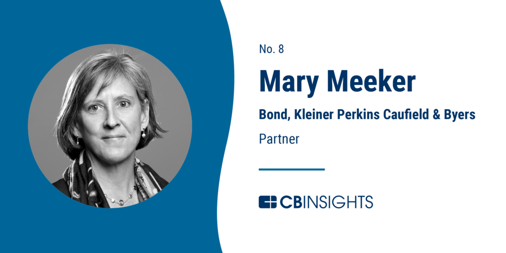 Top Venture Capitalists Mary Meeker Bond Kleiner Perkins Caufield & Byers