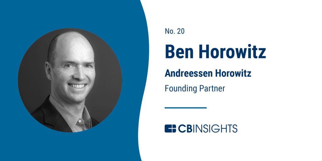 Top Venture Capitalists Ben Horowitz Andreessen Horowitz