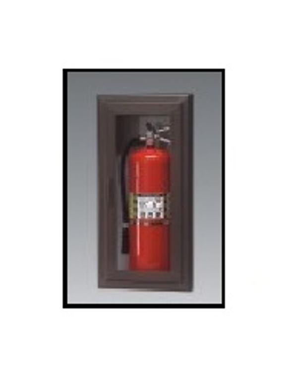 Larsen S Semi Recessed Aluminim Fire Extinguisher Cabinet