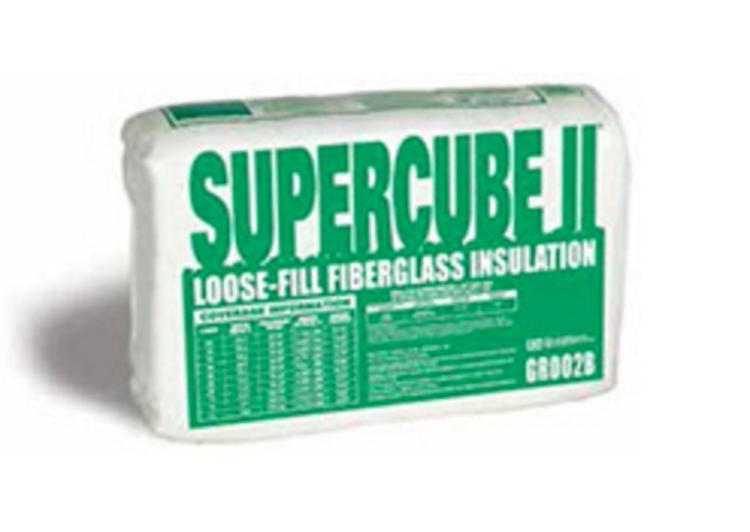 Guardian supercube ii loose fill fiberglass insulation at for Loose fill fiberglass insulation