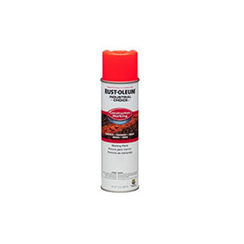 Rust-Oleum M1400 Water-Based Construction Fluorescent Red-Orange Marking Paint - 17 oz
