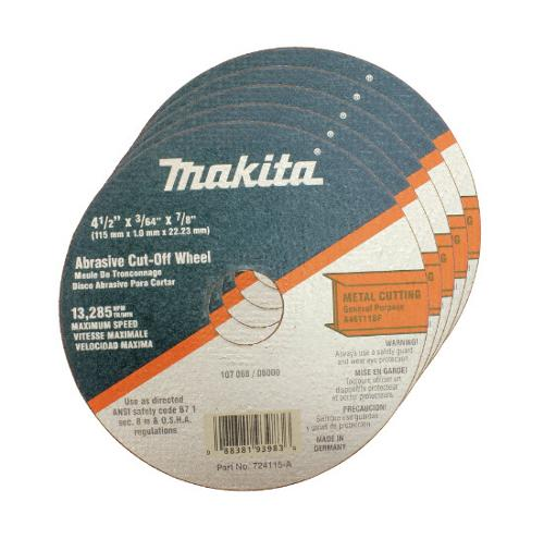 4 1/2 in Makita Cut-Off Wheel for Metal - 724115-A