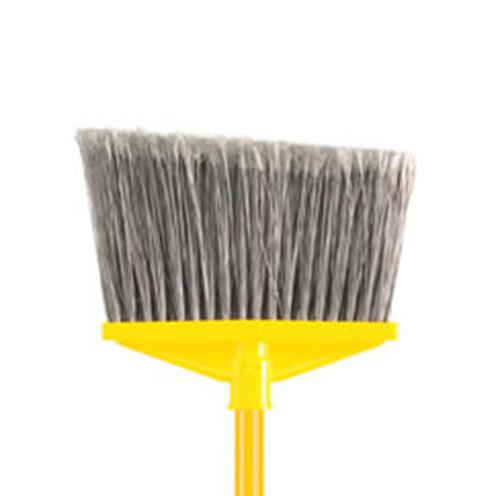 10 1/2 in Rubbermaid Angle Broom, Flagged Polypropylene Fill w/ Vinyl Coated Metal Handle