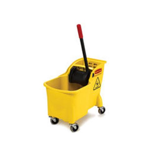 Rubbermaid Tandem 31 Qt Bucket and Wringer Combo - Yellow