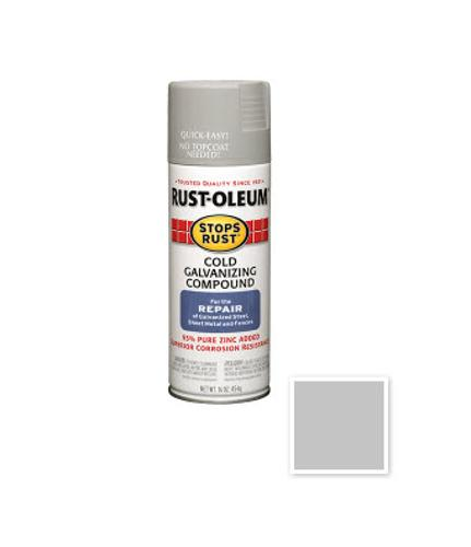 16 oz Rust-oleum Stops Rust Cold Galvanizing Compound Spray - Gray - 7785830