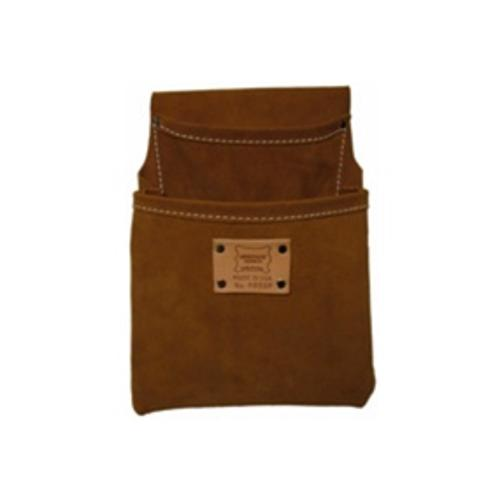Heritage Leather 2 Pocket Professional Suede Drywall Pouch