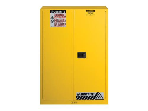 Justrite Flame Safe Yellow Cabinet - 45 Gallon
