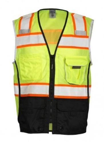 ML Kishigo Premium Black Series Black Bottom Lime Safety Vest - XL