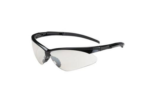 PIP Bouton Optical Adversary Semi-Rimless Safety Glasses - Black Frame/Clear Anti-Scratch Anti-Fog Lens