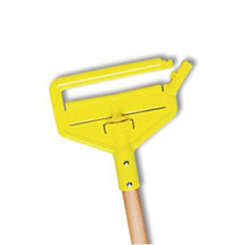 60 in Rubbermaid Invader Side Gate Wet Mop Handle, Large Plastic Head, Hardwood Handle - Yellow