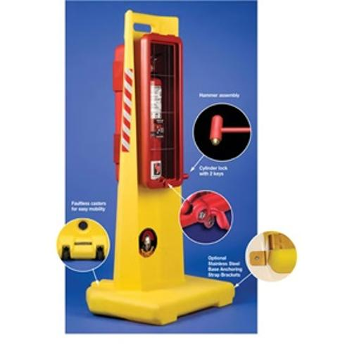 Strike First Centurion Portable Fire Extinguisher Stand - 20 lb