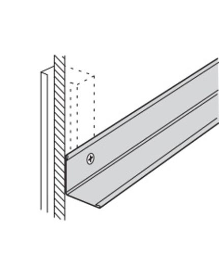 12 ft x 7/8 in x 7/8 in USG Donn Brand Hot-Dipped Galvanized Steel Wall Molding - M7Z