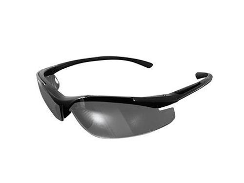 Brand X Safety X6 Series - Matte Black Frame I/O Silver Mirror Anti-Fog Lens
