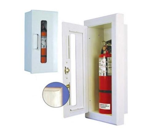 Strike First EL-Elite Semi-Recessed Full Glass Fire Extinguisher Cabinet - 10 lb