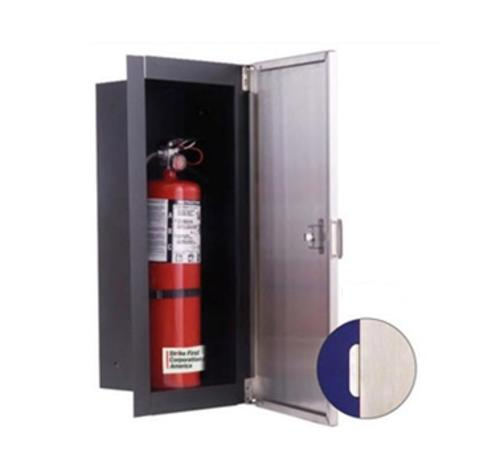 Strike First SONOMA Series Stainless Steel Front Fire Extinguisher Cabinet - 10 lb