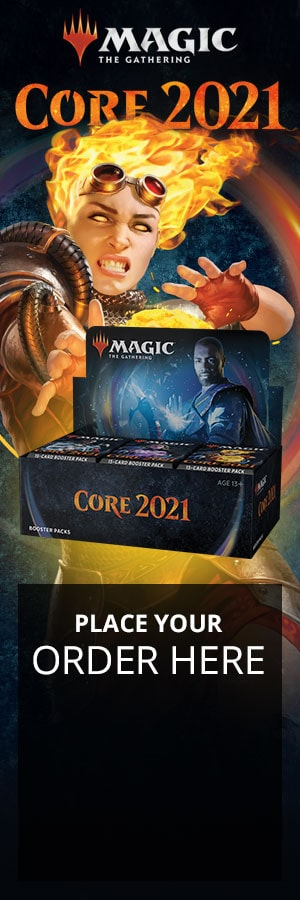 It's Magic Time  Teferi has summoned some of Magic's most iconic throwbacks alongside powerful new cards for a set too epic for just one timeline. Draw your power from the source with Core Set 2021.