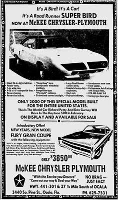 Road Runner Auto Sales >> Winged Wonder Ads | Blog - MCG Social™ | MyClassicGarage™