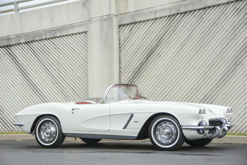 the u002762 corvette shown here features a set of american classic radial tires which uses a oneinch whitewall which is period correct for the era
