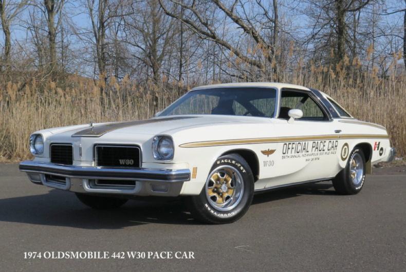 the 1974 hurst olds w 30 indy pace car at old forge motor cars blog mcg social. Black Bedroom Furniture Sets. Home Design Ideas