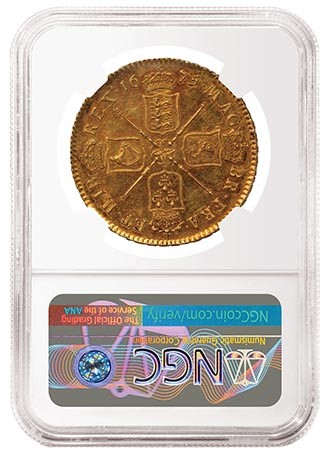 1675 England Elephant Coin