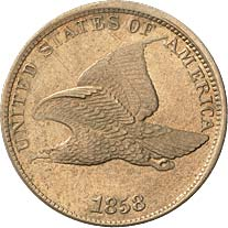 1858 Flying Eagle Cent - Spark Erosion Counterfeit
