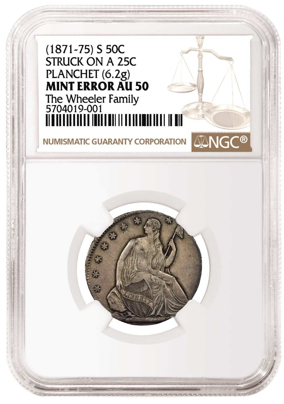 NGC Certifies Seated Liberty Half Dollar That Was Struck on