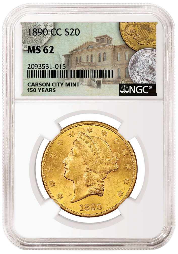 Ngc Carson City Mint 150 Years Special Label Commemorates The