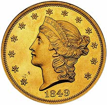 1849 $20, the most valuable coin in existence