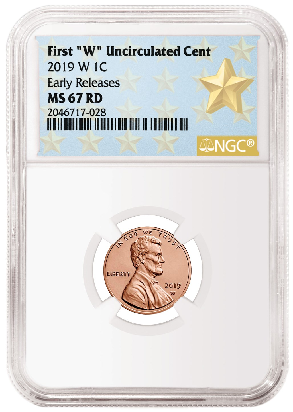 NGC Gem PF ER 2019 W Proof Lincoln Penny Cent Comm Star Label