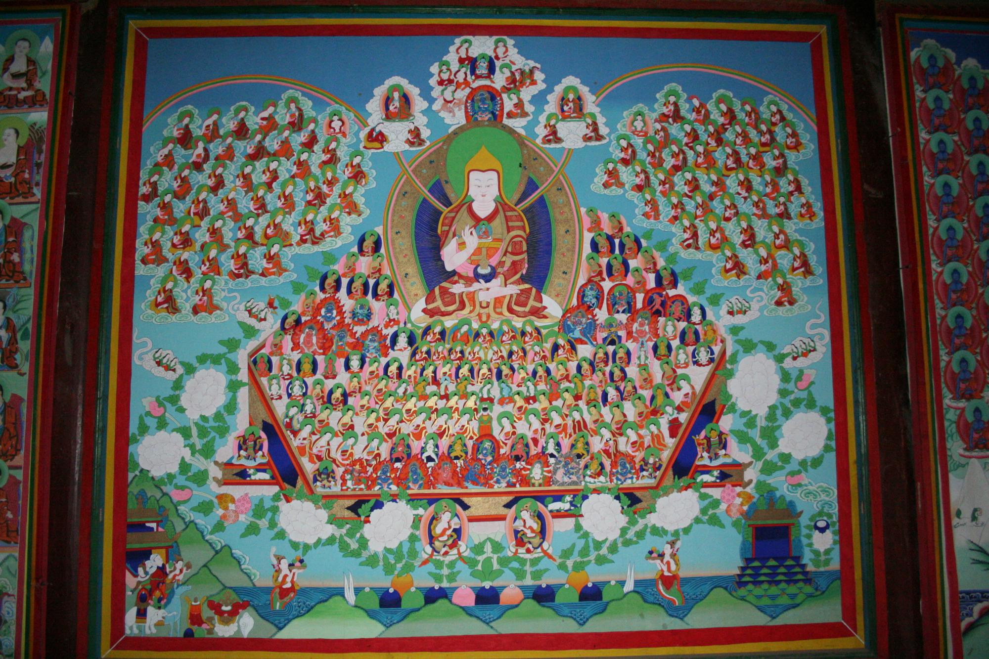 Image of Tsongkhapa Lineage Tree Wall Mural