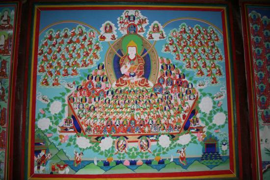 Image of Tsongkhapa Lineage Tree Wall Mural