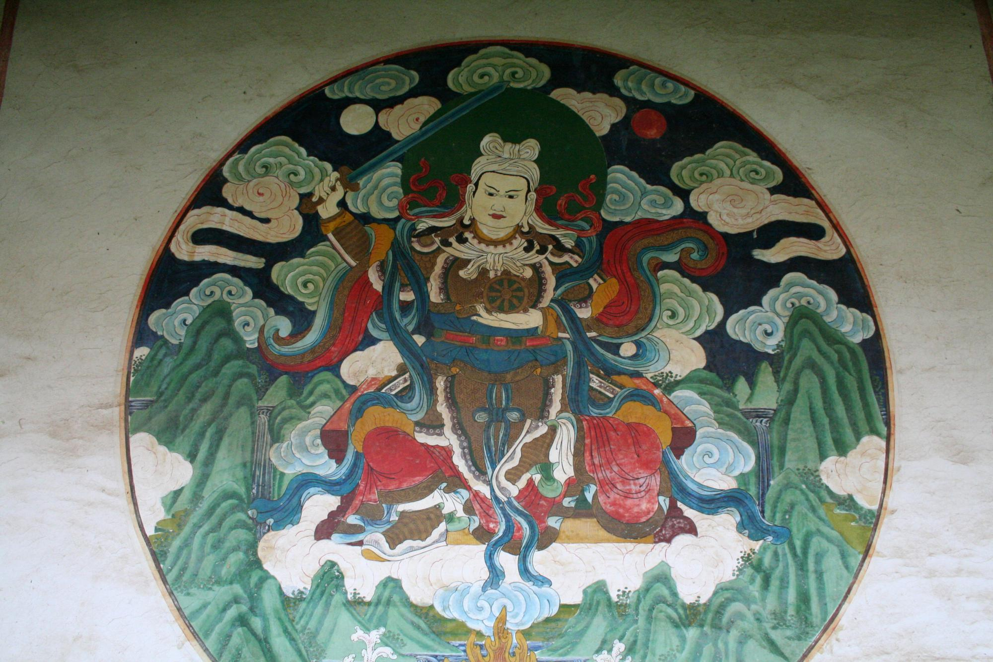 Image of Protector Deity Wall Mural