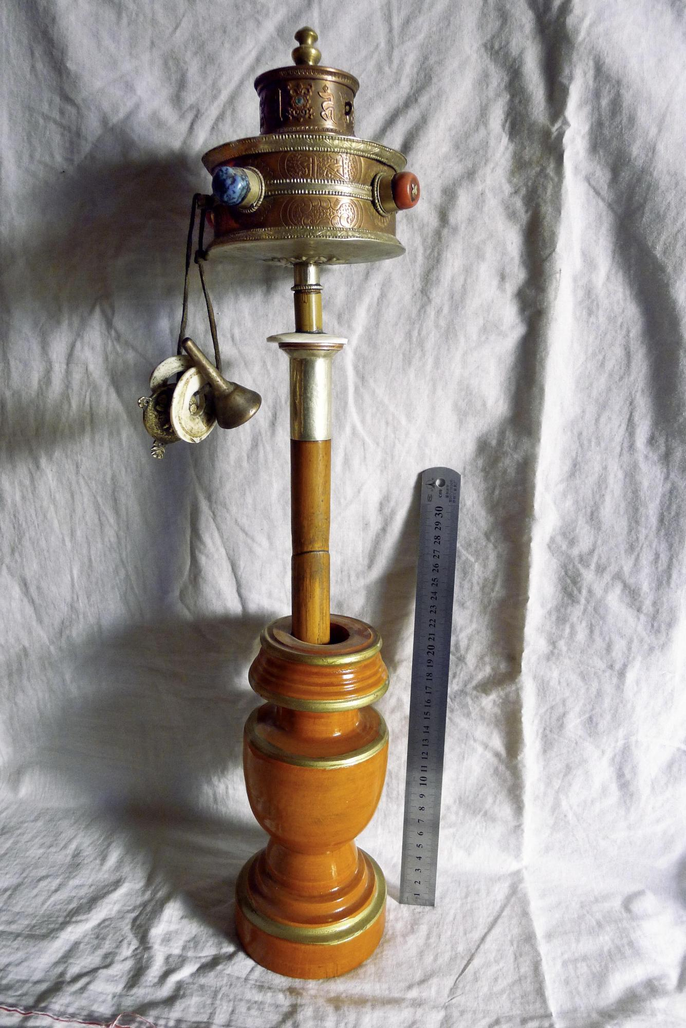Image of Prayer Wheel and Holder